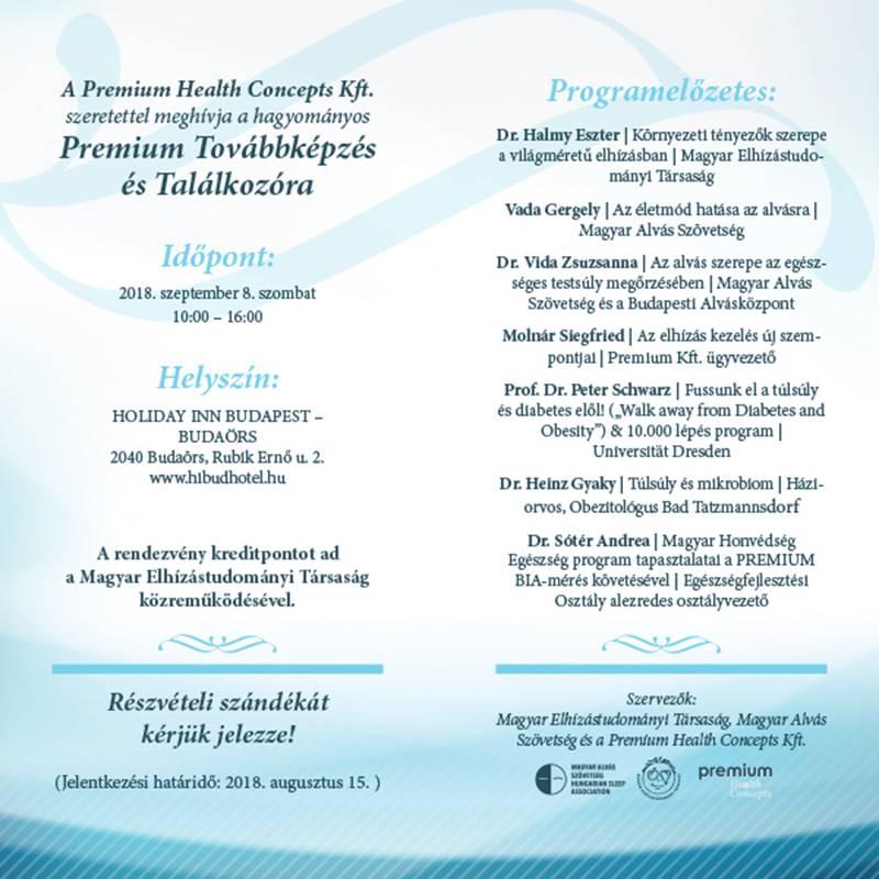 Meghívó Premium Program 2018